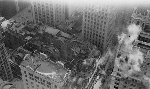 January 9 - The 130 foot tall Equitable Building, New York City's first skyscraper, is destroyed by a fast moving fire.