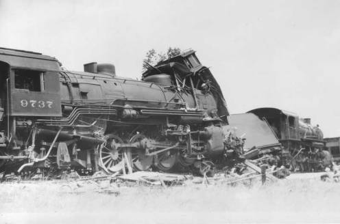 July 4 - 41 are killed in a train collision near Corning, New York