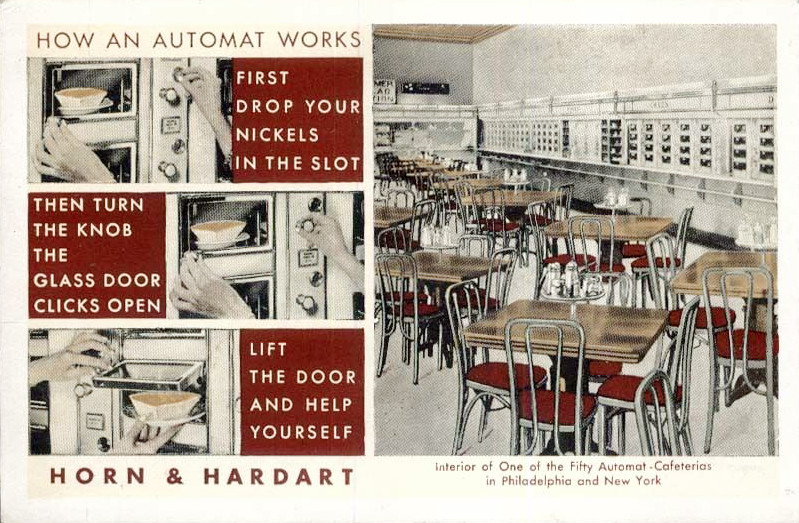 July 7 - The first Automat in New York City, providing fast food to customers in a self-service format, is opened by Horn and Hardart at 1557 Broadway in Times Square.