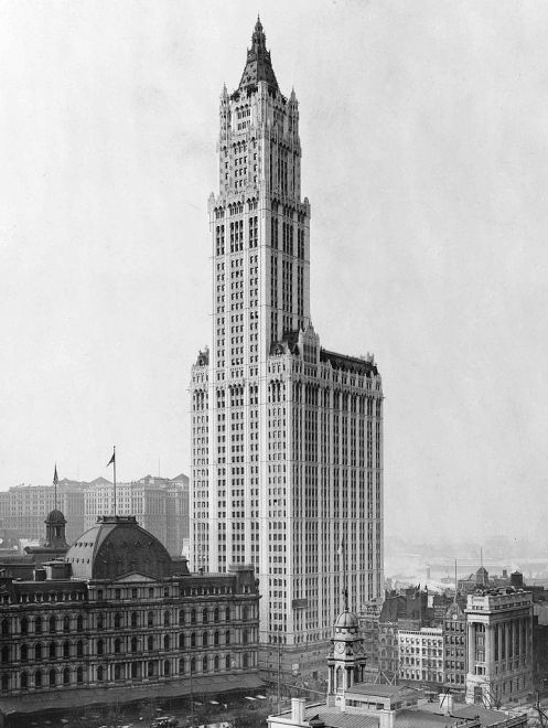 April 24 - The Woolworth Building, tallest in the world until 1930, opens to the public