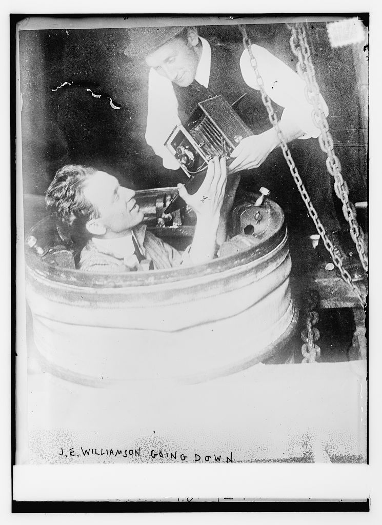 June 18 - John Ernest Williamson, whose father had invented a transparent diving bell called the photosphere, becomes the first person to take photographs from beneath the ocean surface.