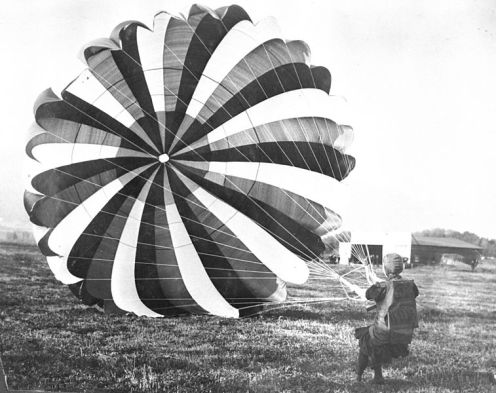 June 21 - Georgia Thompson 'Tiny' Broadwick becomes the first woman to parachute from an airplane.