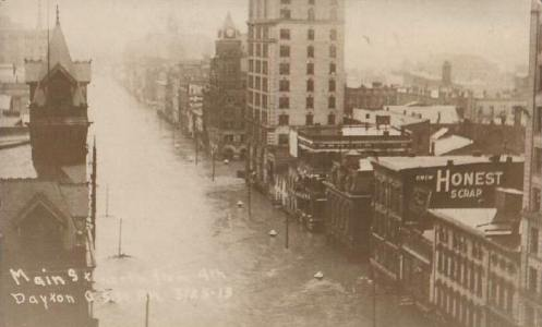 March 25 - Dayton, Ohio is devastated and 400 of its people are killed as the Ohio River overflows its banks following heavy rains.