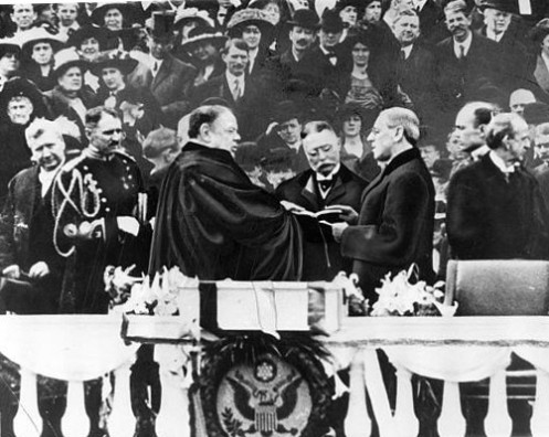 March 4 - Woodrow Wilson is inaugurated as U.S. President