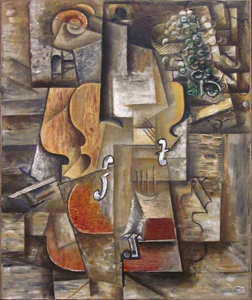 Pablo Picasso - Violin and Grapes
