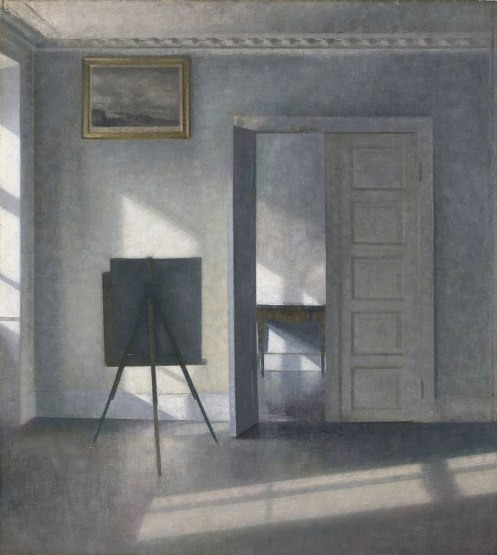 Vilhelm Hammershøi - Interior with an Easel