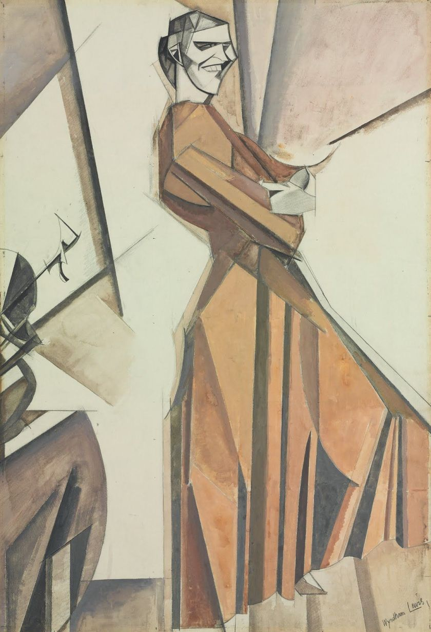 Wyndham Lewis – Smiling Woman Ascending a Stair