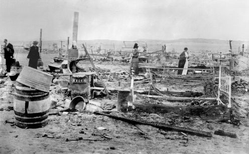 April 20 - The Colorado National Guard attacks a tent colony of 1,200 striking coal miners in Ludlow, Colorado, killing 24 people