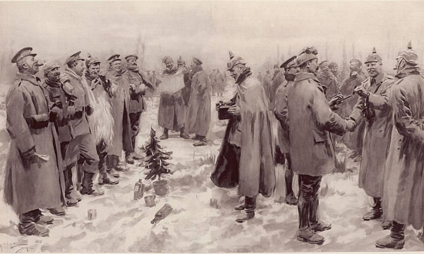 Artists impression from The Illustrated London News of 9 January 1915