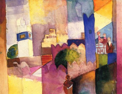 August Macke - Kairouan (III) (watercolor)