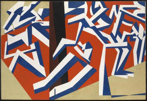 The Mud Bath 1914 by David Bomberg 1890-1957