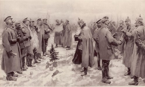 December 24 - An unofficial, temporary Christmas truce begins, between British and German soldiers on the Western Front.