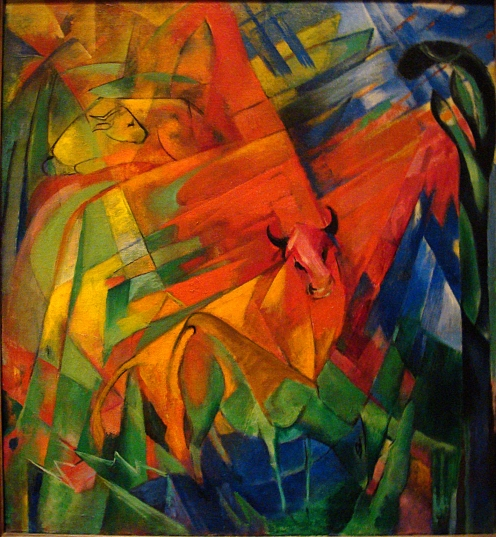 Franz Marc - Animals in a Landscape