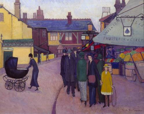 Swiss Cottage exhibited 1914 by Stanislawa De Karlowska 1876-1952