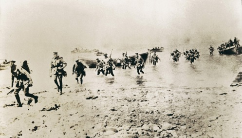 April 25 – A landing at Anzac Cove is conducted by Australian and New Zealand Army Corps, and a landing at Cape Helles by British and French troops, to begin the Allied invasion of Turkey