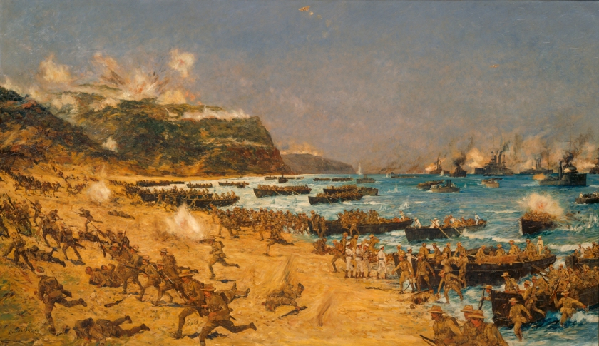 Charles Dixon - Landing at Gallipoli