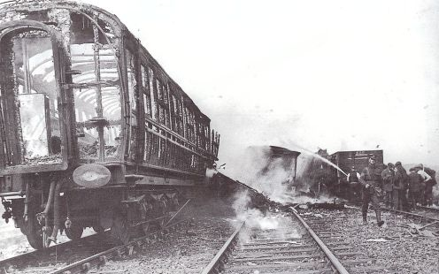 May 22 - Quintinshill rail disaster in Scotland - The collision and fire kill 226, mostly troops, the largest number of fatalities in a rail accident in the United Kingdom.