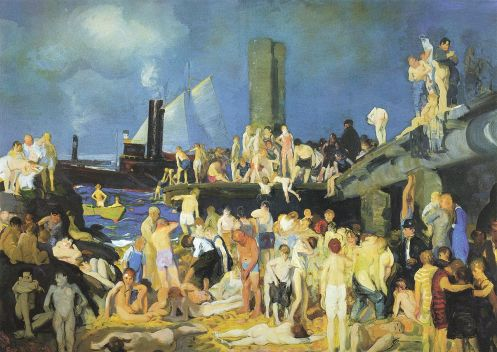 George Bellows – Riverfront No. 1