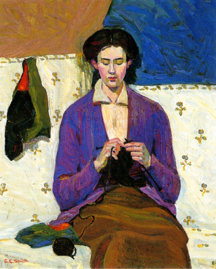 Grace Cossington Smith - The Sock Knitter