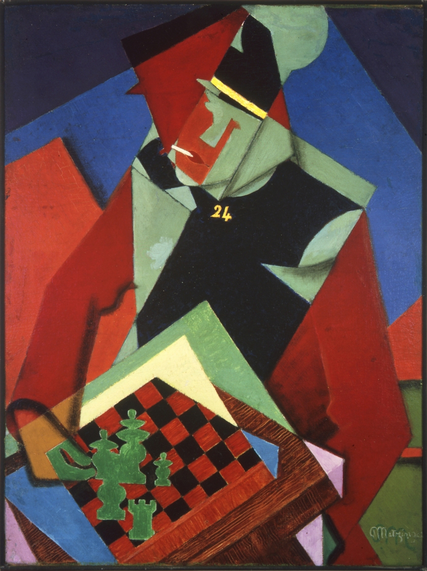 Jean Metzinger – Soldier at a Game of Chess