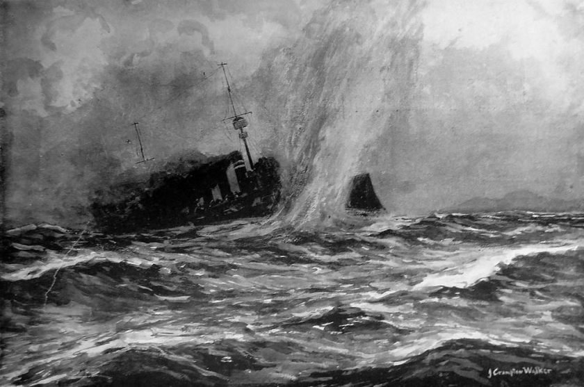 June 5 – HMS Hampshire sinks, having hit a mine off the Orkney Islands, Scotland, with Lord Kitchener aboard.