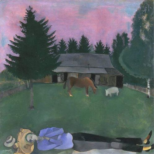 Marc Chagall – The Poet Reclining