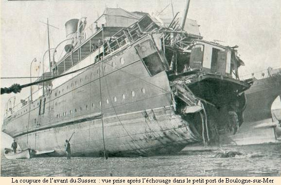 March 24 – French ferry SS Sussex is torpedoed by SM UB-29 in the English Channel, with at least 50 killed, including the composer Enrique Granados.