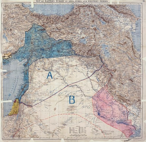 May 16 - Britain and France conclude the secret Sykes–Picot Agreement, which is to divide Arab areas of the Ottoman Empire into French and British spheres of influence.