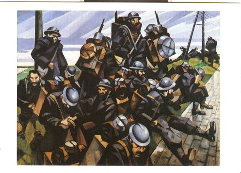 C. R. W. Nevinson - French Troops Resting