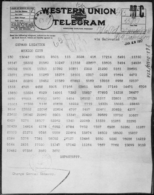 February 24 – US ambassador to the UK Walter Hines Page is shown the intercepted Zimmermann Telegram, in which Germany offers to give the American Southwest back to Mexico