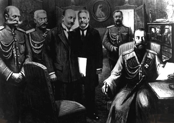 March 15 – Emperor Nicholas II of Russia abdicates his throne and his son's claims. This is considered to be the end of the Russian Empire, after 196 years