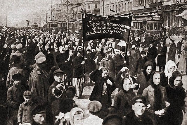 March 8 – The February Revolution begins in Russia - Women calling for bread in Petrograd start riots, which spontaneously spread throughout the city