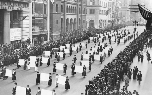 November 7 - Women win the right to vote in New York State.