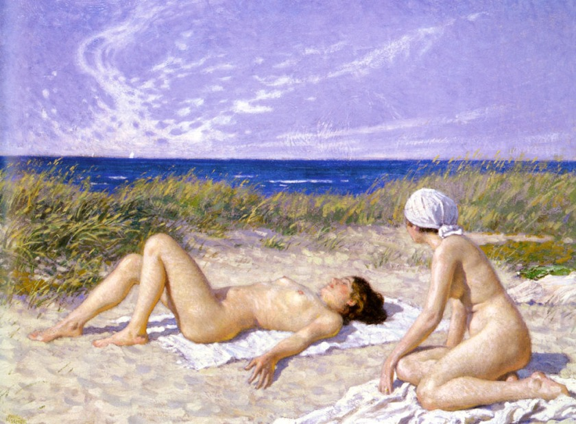 Paul Gustav Fischer – Sunbathing in the Dunes
