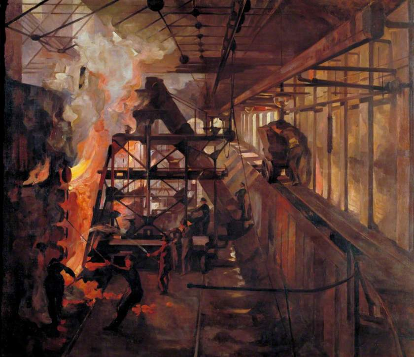 Airy, Anna, 1882-1964; Women Working in a Gas Retort House: South Metropolitan Gas Company, London