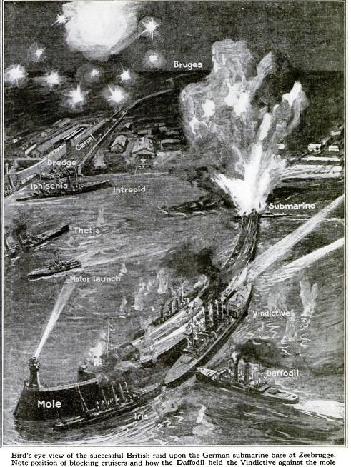 April 23 – The British Navy raids Zeebrugge and Ostend, attempting to seal off the German U-boat bases there