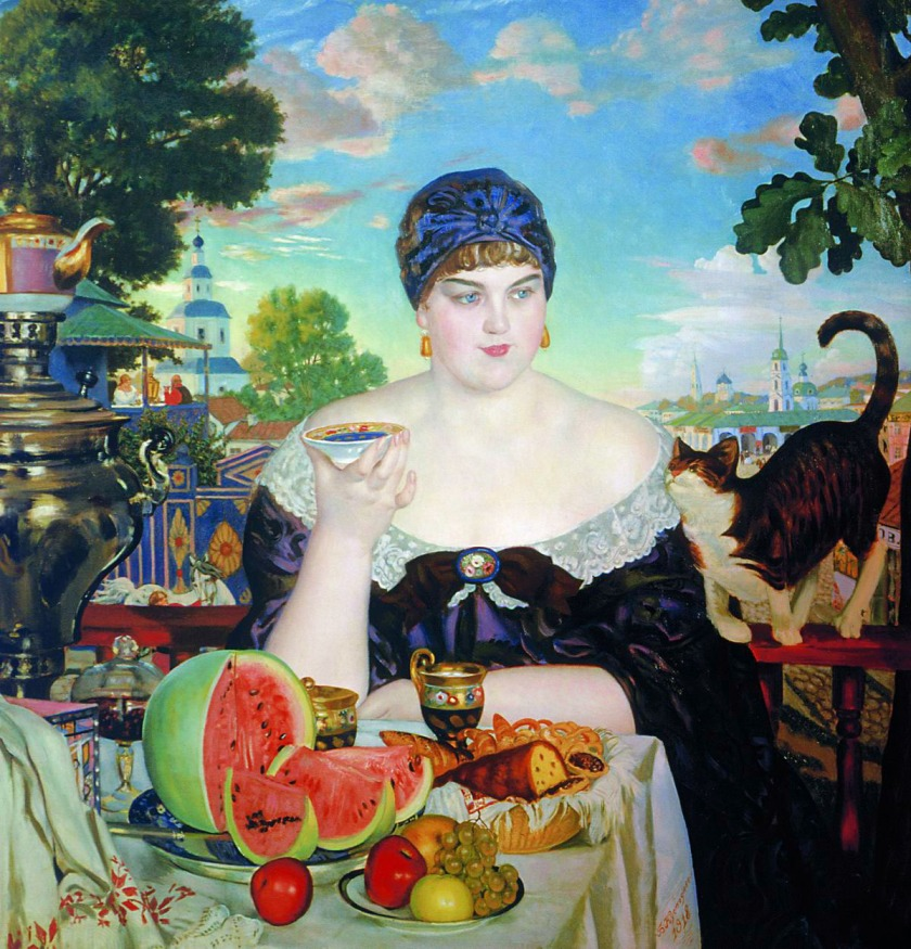 Boris Kustodiev - The Merchant's Wife