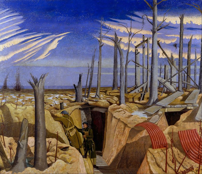 John Nash - Oppy Wood, 1917, Evening