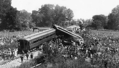July 9 – In Nashville, Tennessee, an inbound local train collides with an outbound express, killing 101.