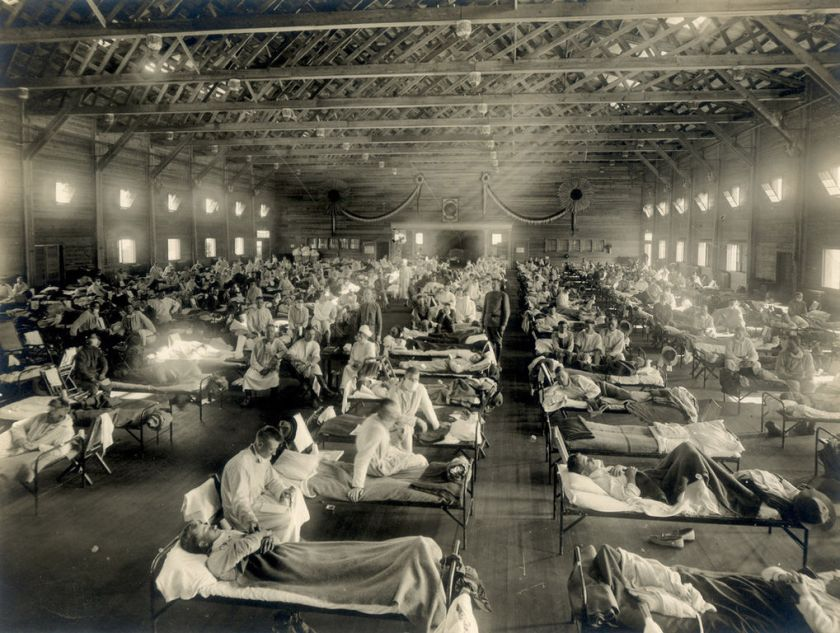 June – The 'Spanish 'flu' becomes pandemic. Over 30 million people die in the following 6 months.