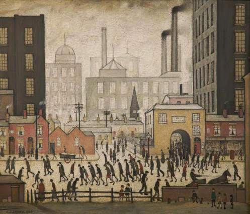 Lowry, Laurence Stephen, 1887-1976; Coming from the Mill