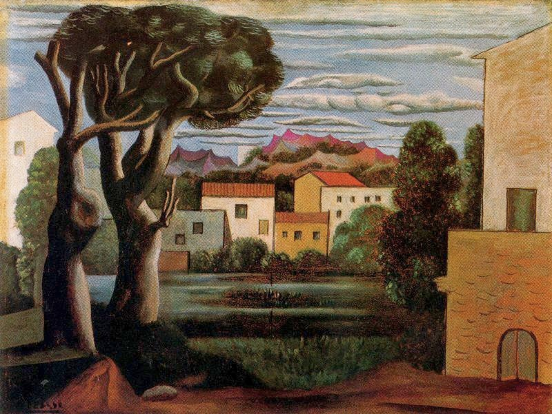 Pablo Picasso - Paysage (Landscape with Dead and Live Trees)