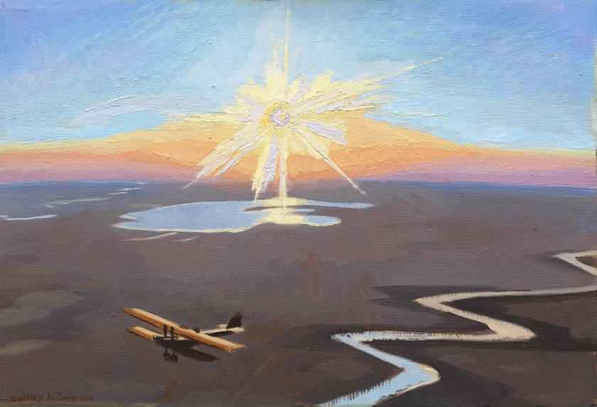 Sydney Carline - Flying Over the Desert at Sunset, Mesopotamia