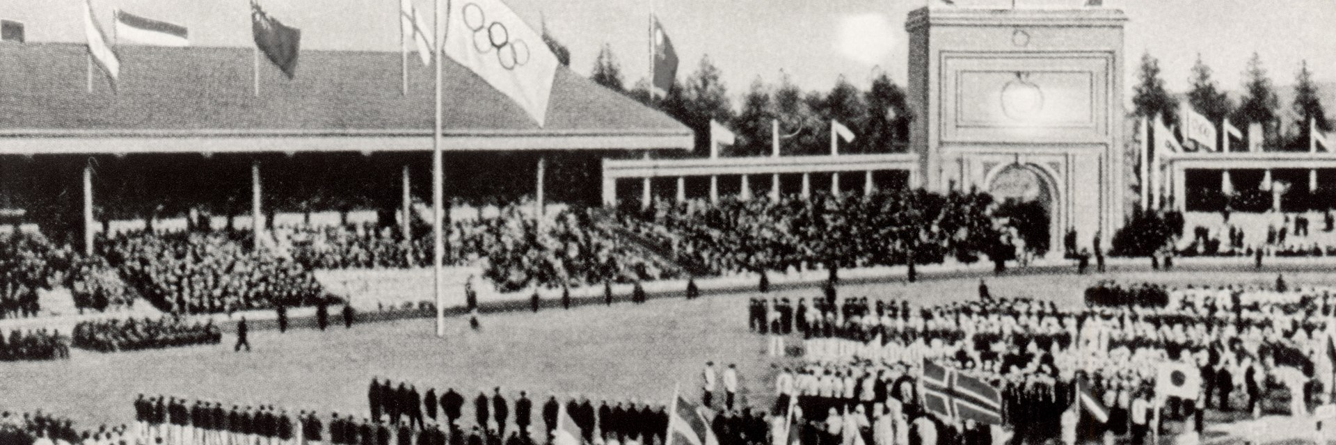 April 20 - The 1920 Summer Olympics open in Antwerp, Belgium. The Olympic symbols of five interlocking rings and the associated flag are first displayed at the games
