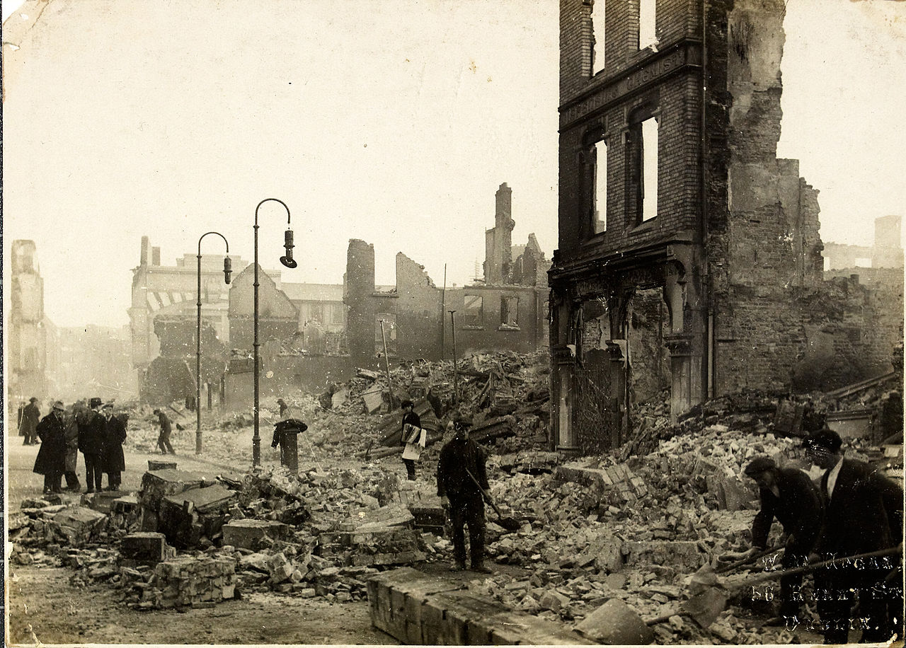 December 11 – British forces set fire to 5 acres of the centre of Cork, Ireland, including the City Hall, in reprisal attacks, after a British auxiliary is killed in a guerilla ambush