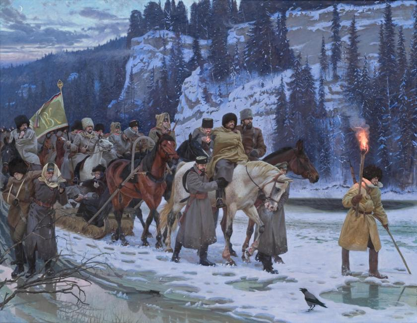January 7 - In the Russian Civil War, the forces of Russian White Admiral Alexander Kolchak surrender in Krasnoyarsk - the Great Siberian Ice March ensues