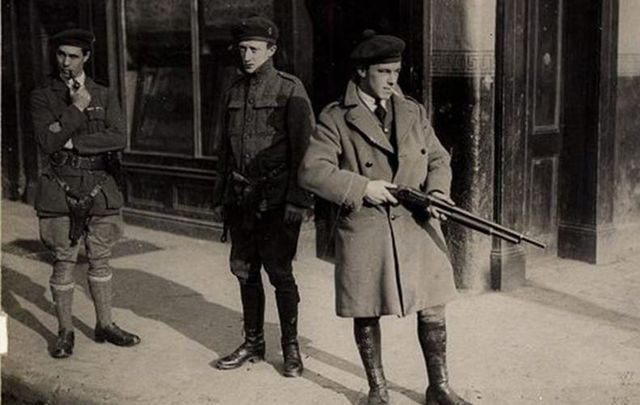 March 25 – British recruits to the Royal Irish Constabulary begin to arrive in Ireland. They become known from their improvised uniforms as the 'Black and Tans'
