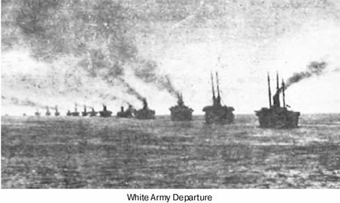 November 13 – The White Army's last units and civilian refugees are evacuated from the Crimea on board 126 ships