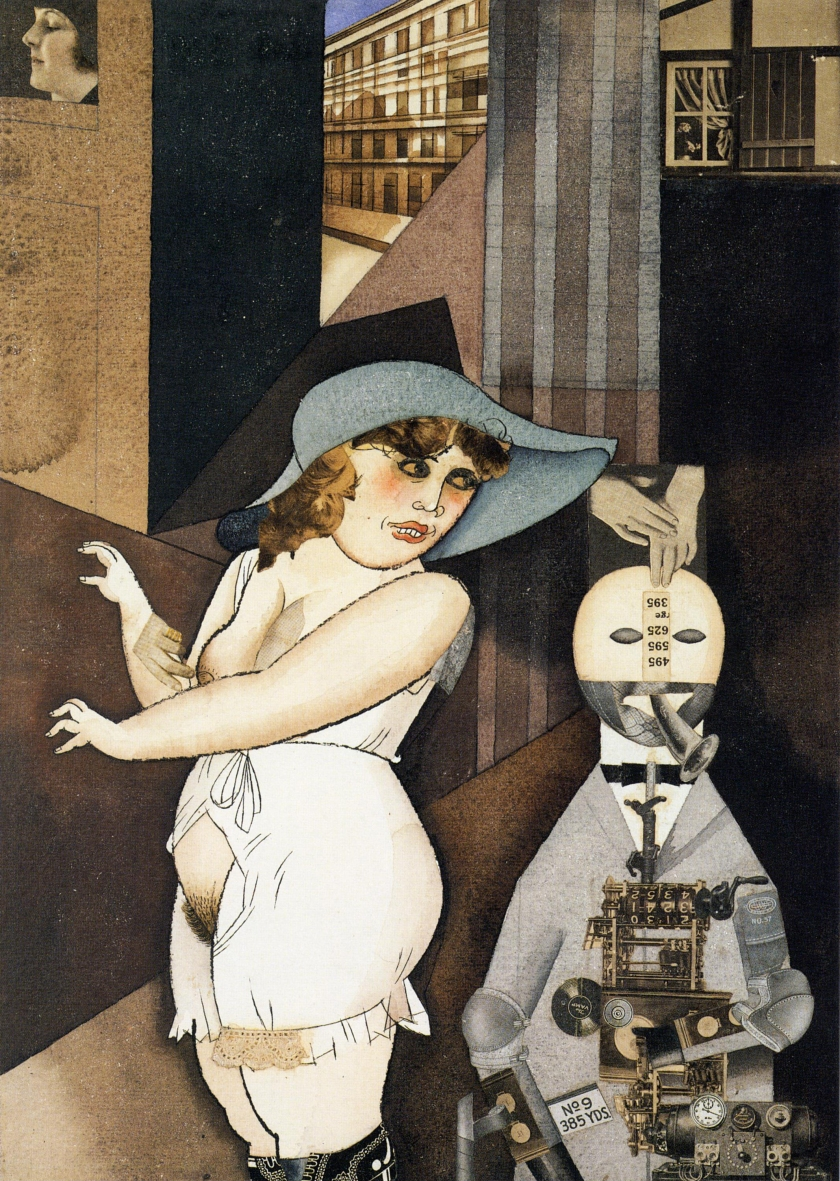 George Grosz - Daum marries her pedantic automaton George
