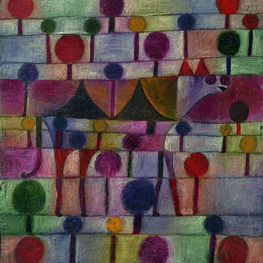 Paul Klee - Camel (in rhythmic landscape with trees)